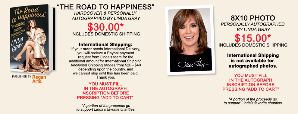 Linda Gray Autographed Photos and Books